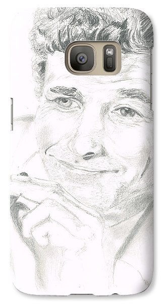 Galaxy Case featuring the drawing Lt. Columbo by Andrew Gillette