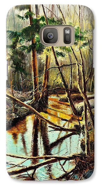 Galaxy Case featuring the painting  Lubianka-1- River by Henryk Gorecki