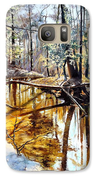Galaxy Case featuring the painting  Lubianka-2-river by Henryk Gorecki