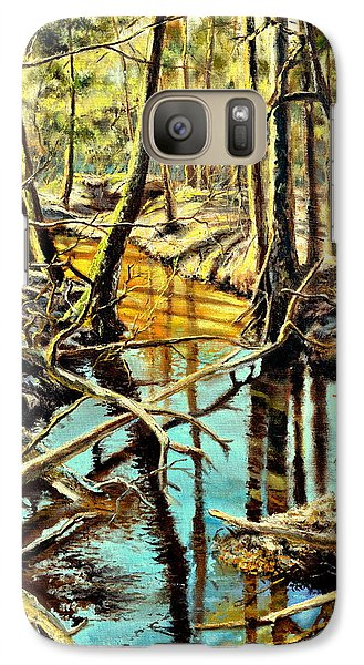Galaxy Case featuring the painting  Lubianka-3-river by Henryk Gorecki
