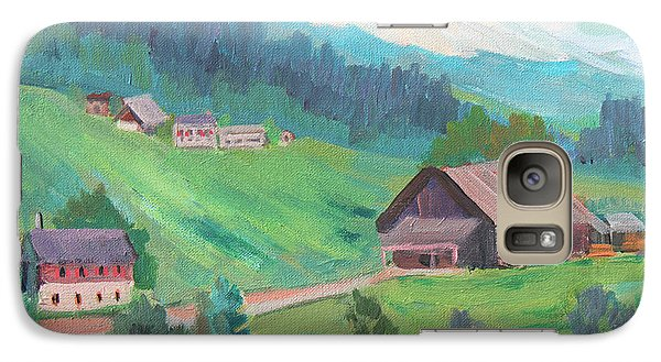 Galaxy Case featuring the painting Lucerne Countryside by Diane McClary