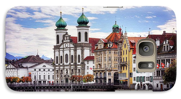 Galaxy Case featuring the photograph Lucerne Switzerland  by Carol Japp