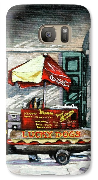 Galaxy Case featuring the painting Lucky Dogs by Dianne Parks
