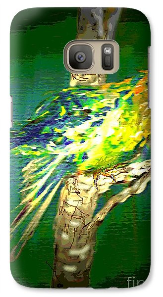 Galaxy Case featuring the painting Lucky Louie by Desline Vitto