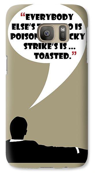 Lucky's Tobacco - Mad Men Poster Don Draper Quote Galaxy S7 Case