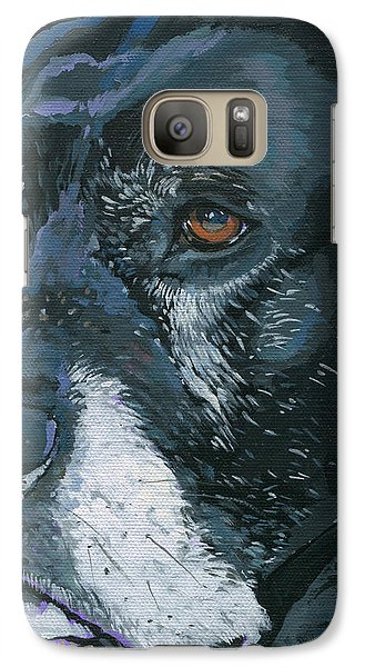 Galaxy Case featuring the painting Lucy by Nadi Spencer