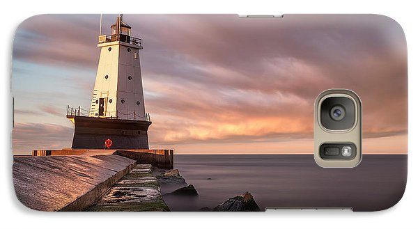 Marquette Galaxy S7 Case - Ludington Light Sunrise Long Exposure by Adam Romanowicz
