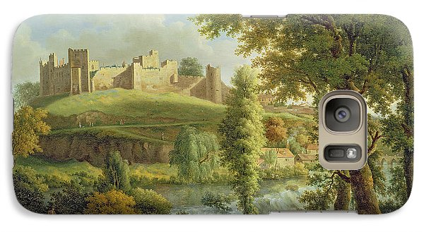 Ludlow Castle With Dinham Weir Galaxy Case by Samuel Scott