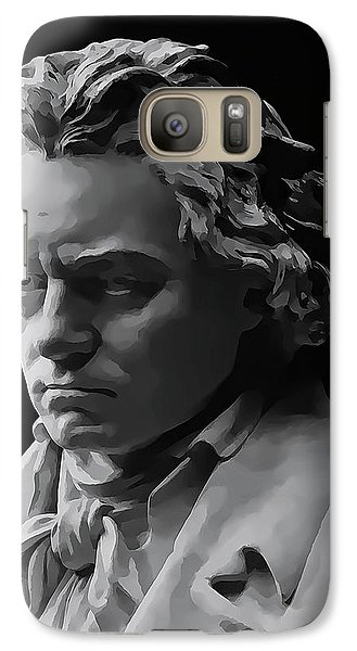 Galaxy Case featuring the mixed media Ludwig Van Beethoven by Daniel Hagerman