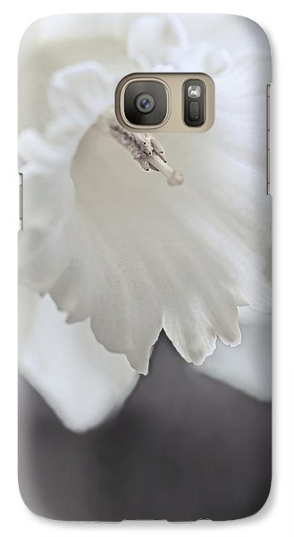 Galaxy Case featuring the photograph Luminous Ivory Daffodil Flower by Jennie Marie Schell