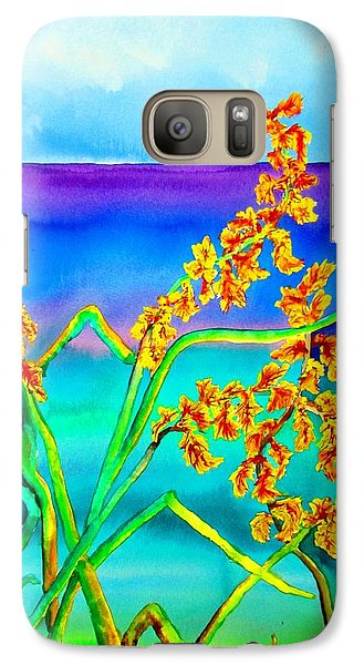 Galaxy Case featuring the painting Luminous Oats by Lil Taylor