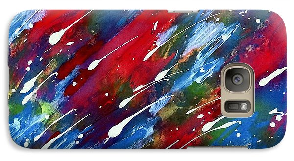 Galaxy Case featuring the painting Luminous Rain by Patrick Morgan