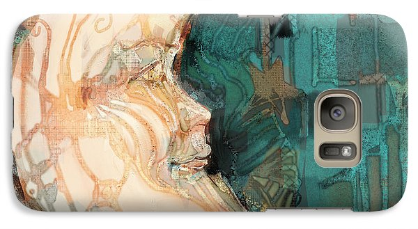 Galaxy Case featuring the painting Luna by Carrie Joy Byrnes