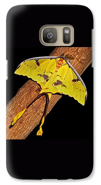 Galaxy Case featuring the photograph Luna Moth by Judy Vincent
