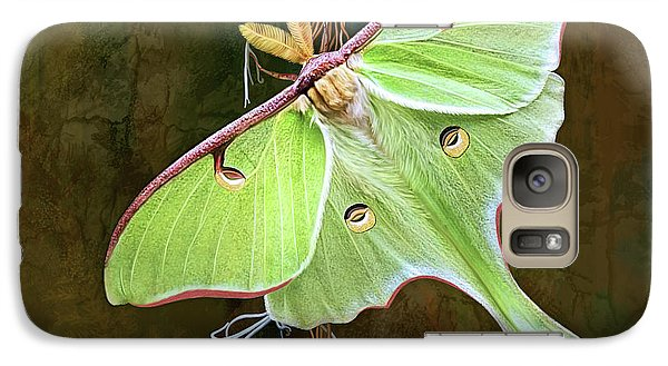 Galaxy Case featuring the digital art Luna Moth by Thanh Thuy Nguyen