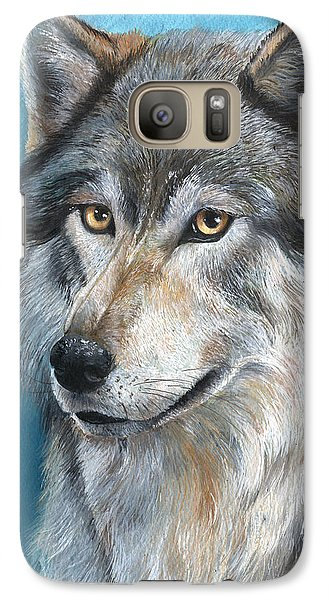 Galaxy Case featuring the painting Luna by Sherry Shipley