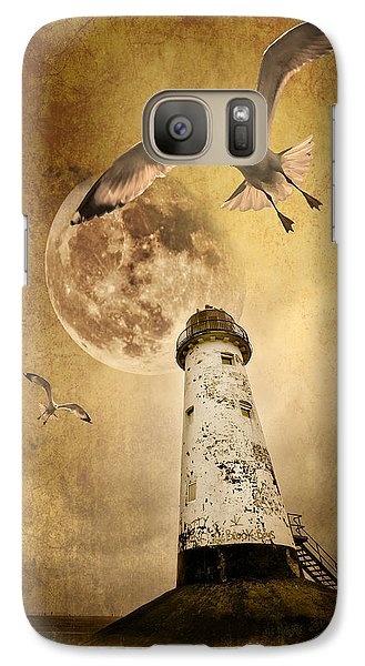 Lunar Flight Galaxy Case by Meirion Matthias