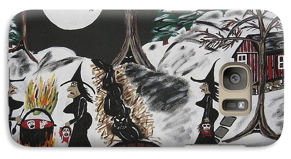 Galaxy Case featuring the painting Lunch by Jeffrey Koss