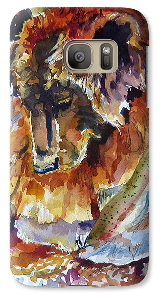 Galaxy Case featuring the painting lunch Soak and a Nap Heaven by P Maure Bausch