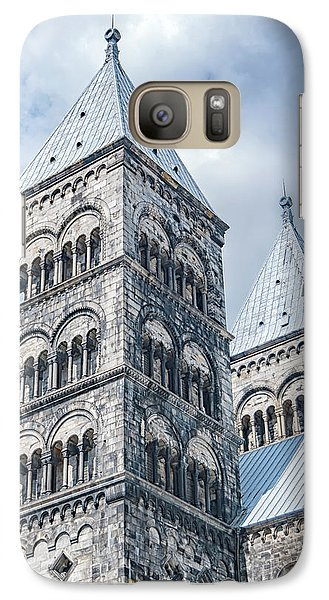 Galaxy Case featuring the photograph Lund Cathedral In Sweden by Antony McAulay