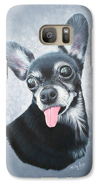 Galaxy Case featuring the painting Lupe by Mike Ivey