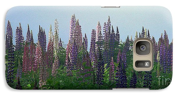 Galaxy Case featuring the photograph Lupine In Morning Light by Christopher Mace