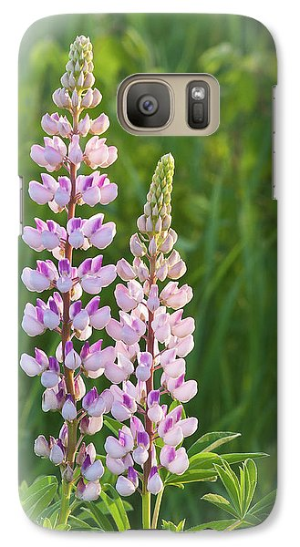 Galaxy Case featuring the photograph Lupine Pair by Paul Miller