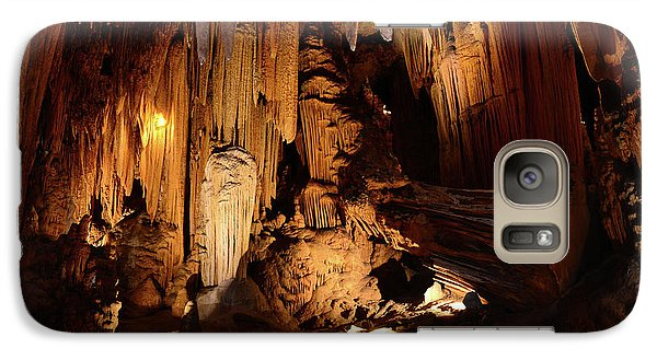 Galaxy Case featuring the photograph Luray Dark Caverns by Paul Ward