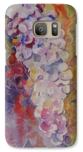 Galaxy Case featuring the painting Luscious Grapes by Mary Haley-Rocks