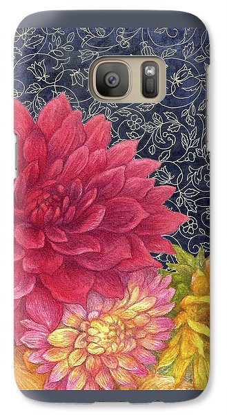 Galaxy Case featuring the painting Lush Fall Botanical by Judith Cheng