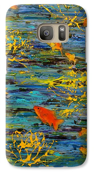Galaxy Case featuring the painting Lux by D Renee Wilson