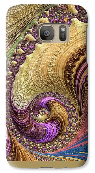Luxe Colorful Fractal Spiral Galaxy S7 Case