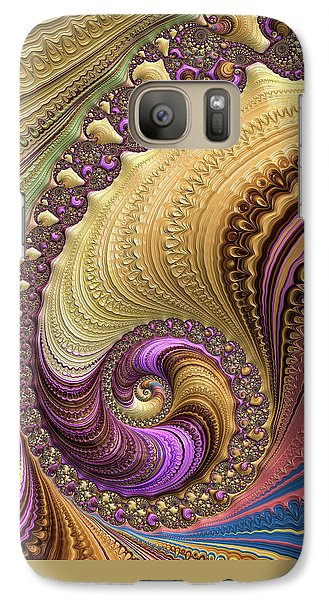 Luxe Colorful Fractal Spiral Galaxy S7 Case by Matthias Hauser