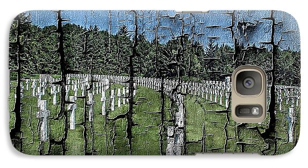 Galaxy Case featuring the photograph Luxembourg Wwii Memorial Cemetery by Joseph Hendrix