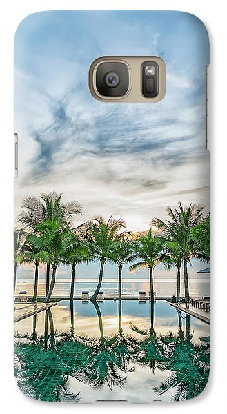 Galaxy Case featuring the photograph Luxury Pool In Paradise by Antony McAulay