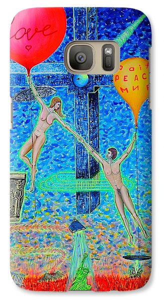 Galaxy Case featuring the painting L.v P. by Viktor Lazarev