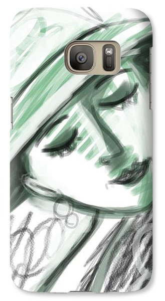 Galaxy Case featuring the digital art Lydia by Elaine Lanoue