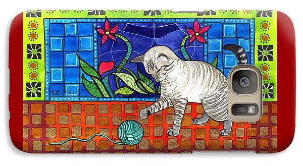 Lynx Point Kitten Smitten With Yarn Galaxy S7 Case