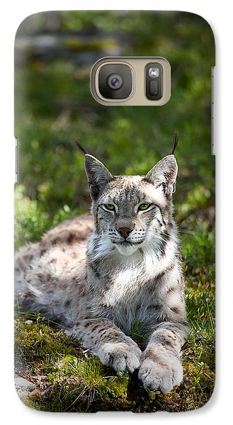 Galaxy Case featuring the photograph Lynx by Yngve Alexandersson