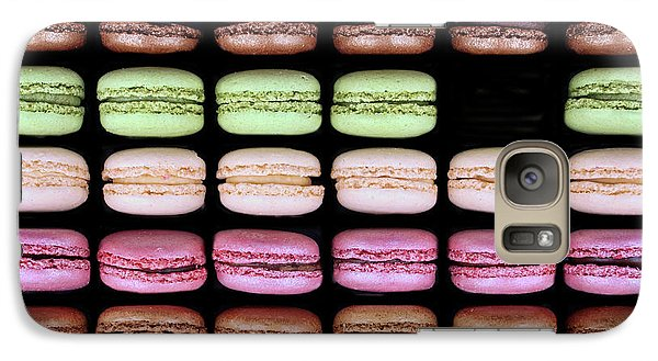 Galaxy Case featuring the photograph Macarons - One Missing by Nikolyn McDonald