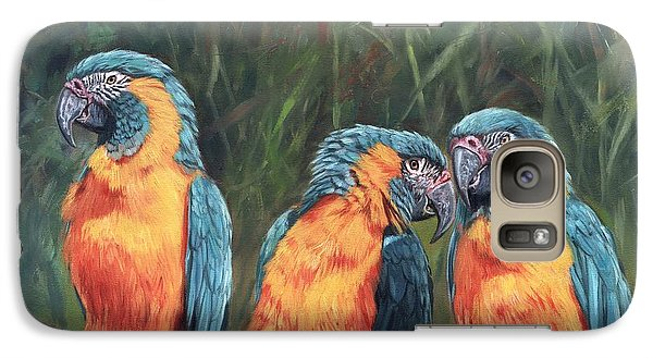 Galaxy Case featuring the painting Macaws by David Stribbling