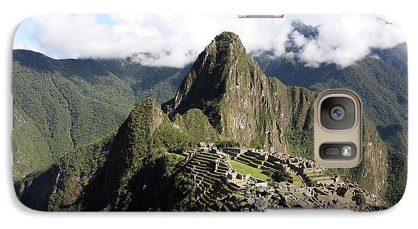 Galaxy Case featuring the photograph Machu Picchu Ruin, Peru by Aidan Moran