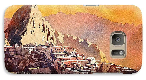 Galaxy Case featuring the painting Machu Picchu Sunset by Ryan Fox