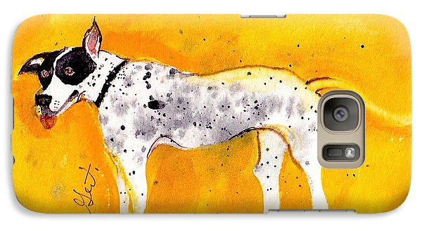 Galaxy Case featuring the painting Mack The Pit/dalmatian by Gertrude Palmer