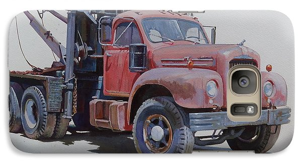 Galaxy Case featuring the painting Mack Wrecker. by Mike  Jeffries