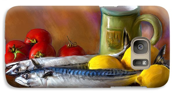 Mackerels, Lemons And Tomatoes Galaxy S7 Case