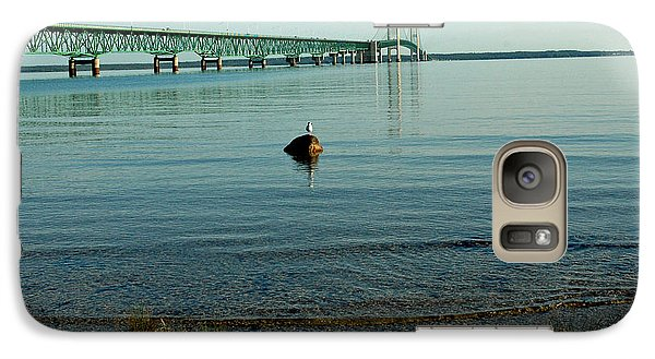Galaxy Case featuring the photograph Mackinac Bridge Michigan by LeeAnn McLaneGoetz McLaneGoetzStudioLLCcom