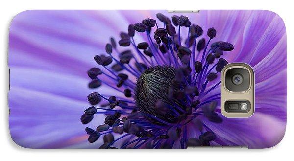 Macro Of Lavender Purple Anemone Galaxy S7 Case