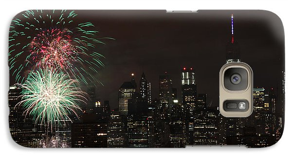 Galaxy Case featuring the photograph Macy's July 4th 2015 Fireworks-1 by Steven Spak