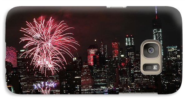Galaxy Case featuring the photograph Macy's July 4th 2015 Fireworks-2 by Steven Spak